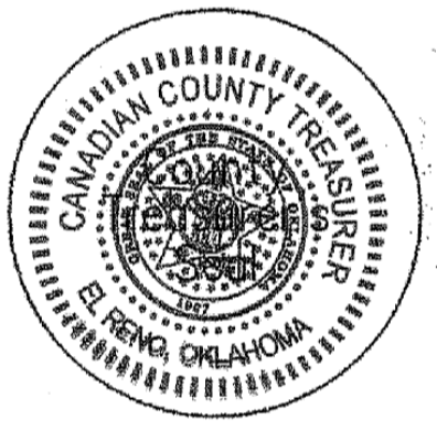 Canadian County Treasurer Seal