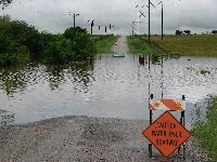 Don't drive through floodwaters!